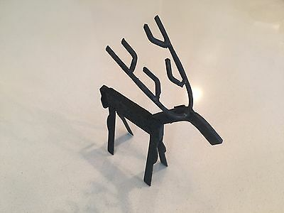 Rustic metal deer with antlers - table top decor, Camp Cabin decor