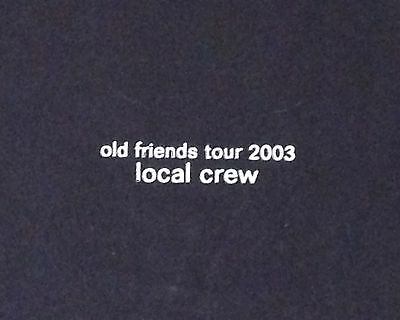 Simon and Garfunkel Old Friend Tour 2003 Local Crew T Shirt Black XL