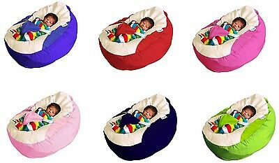 GaGa Cuddlesoft Pre-Filled Baby Bean Bag with Safety Harness - Pick Your Colour