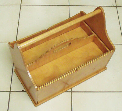 Wooden Sewing/Craft/Tool Box portable with handle
