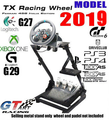 GT ART Racing Simulator Steering Wheel Stand for G27 G29 PS4 G920 T300RS 458T80
