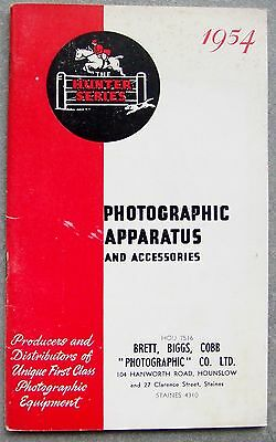 R. F. Hunter Photographic Catalogue 1954. Rolleiflex & Rolleicord