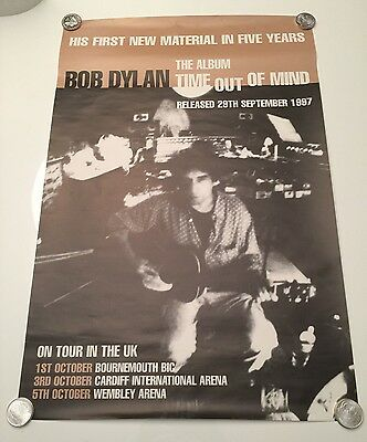 """1997 Bob Dylan Time Out Of Mind Tour UK Tour Poster 30"""" x 20"""" Music Concert"""