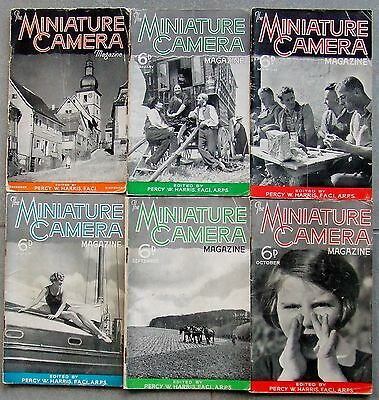 MINIATURE CAMERA MAGAZINE. 21 ISSUES. 1936 to 1940