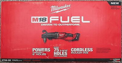 **NEW** Milwaukee M18 FUEL 18V Super Hawg 1/2 in Right Angle Drill Kit - 2709-22