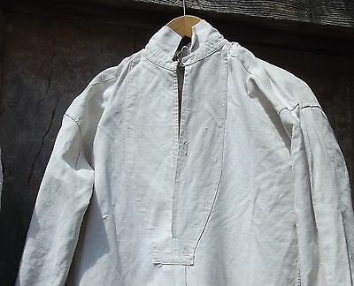 Antique French Linen Smock 19th C Chemise untreated linen Darcy Gentleman shirt