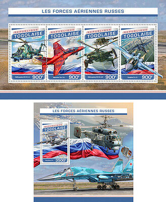 Aviation Helicopters Russia Air Forces Transport Military Togo MNH stamp set