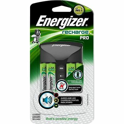 ENERGIZER RECHARGE PRO BATTERY CHARGER (INCLUDES 4 x AA 1500 mAh BATTERIES)