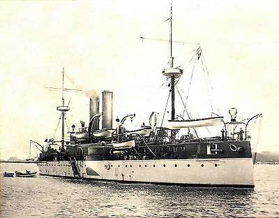 1898 Photo USS Maine in Havana Harbor, Shortly before Explosion  8x10 Photo