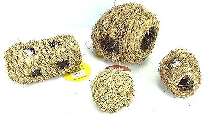 Classic Rustic Natural Hay Play Chew Tunnel Ball Toy Rabbit, Hamster, Guinea Pig