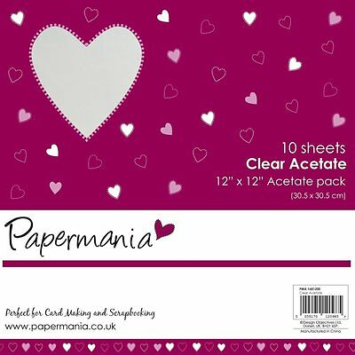 Papermania 12 x 12-inch Plain Acetate Sheet, Pack of 10 PMA 1681200
