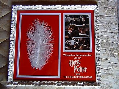 Harry Potter Screen Used Prop Feather Hermione Ron No Signed Photo Poster Coa