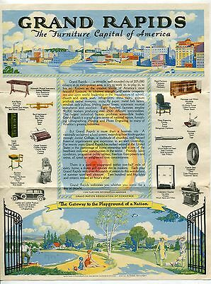 "1931 Letterhead: ""Imperial Furniture Co"" - GORGEOUS FULL PAGE COLOR ILLUSTRATION"