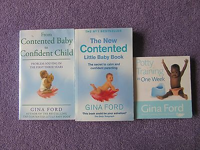 The New Contented Little Baby Books x3 paperbacks - Gina Ford
