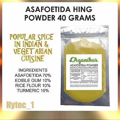ASAFOETIDA HING POWDER - 40 Gram - Free Post