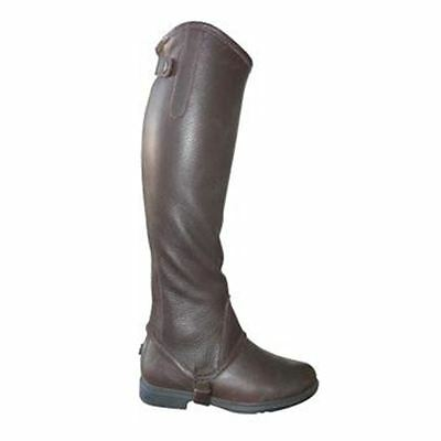 Mark Todd Soft Leather Half Chaps in Brown or Black - All sizes