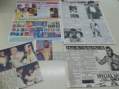 Mr T And the A-Team cast  clippings #MC49