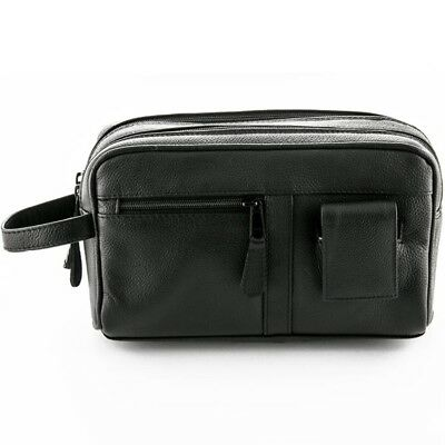 f3006fc46e Sonnenschein Toiletry Leather Bag With Manicure Set Mens Shaving Travel  Wash Bag
