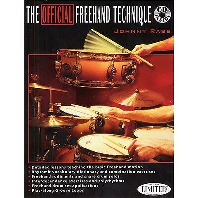 Johnny Rabb: The Official Freehand Technique (Book And.... Drums Sheet Music, CD