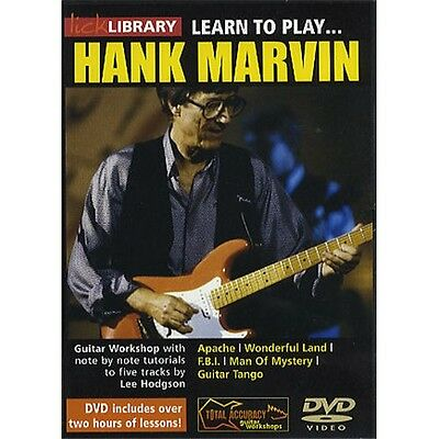 Lick Library: Learn To Play Hank Marvin. Guitar DVD (Region 0)