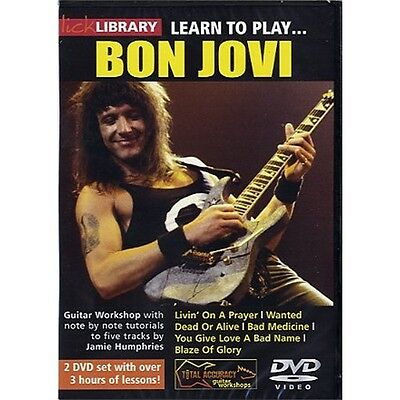 Lick Library: Learn To Play Bon Jovi. Guitar 2 x DVD (Region 0)