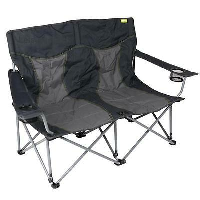 Kampa Lofa Double Chair Charcoal Comfortable Seat Designed For Two