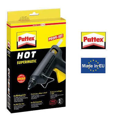 Pattex Hot Supermatic Heißklebepistole + 2 Sticks