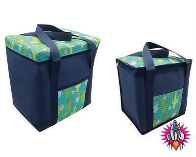 Funky Large Cactus Beach Insulated Cooler Bag Cool Festival Bag 28L & 12L Sizes