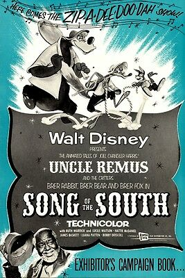 SONG OF THE SOUTH pressbook, WALT DISNEY, Bobby Driscoll, Ruth Warrick