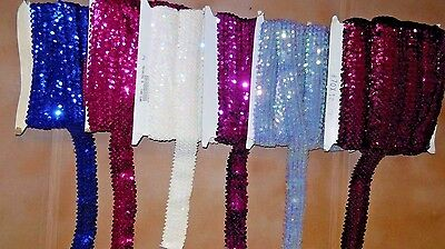 New Flat Sequin Stretch # 70  Various Colors Various Lengths Costuming Raw Goods