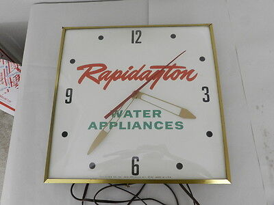 Vintage Advertising Pam Clock-Rapidayton Water Appliances Clock-Vintage Gas Pump