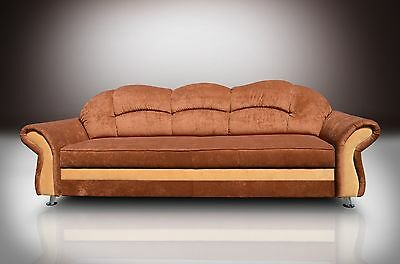New Model, Sofa Bed Three  Seater Romero With Hidden Bed! Chenille Fabric