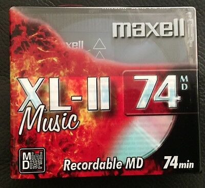 10 Pack Of Maxell Recordable MD XL-2 74mins