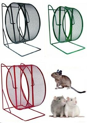 Metal Closed Mesh Running Exercise Jogging Play Wheel Hamsters Degus Rats Mice