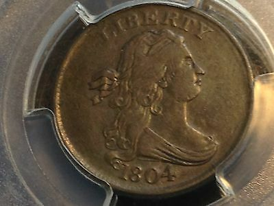 1804 Crosslet 4 w/Stems Half Cent PCGS XF45 Chocolate Brown Beauty CHN!