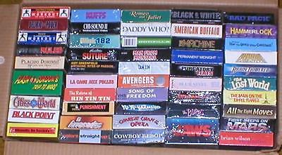 Wholesale Lot of 50 VHS Movie Videos ~ A Grab-Bag of Titles, Genre, and Movies