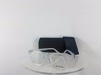 New Authentic Spine Eyeglasses SP 1002 800 Clear 50mm Frame