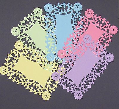 "FLORAL LACE CARD TOPPERS X 5 - PASTELS FOR 6"" x 4"" CARDS - GORGEOUS"