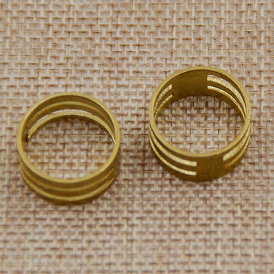 2 Pcs Brass Jump Ring Circle Open Close Tool For Jewelry Making Finger Helper
