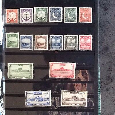 Stamp Timbre Pakistan 1948 / 1954 Definatives Set Mh Nc