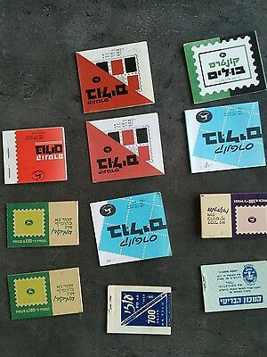 Israel Lot 11 Carnet Booklet 50 / 70 Mnh Mint