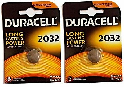 2 X Duracell CR2032/DL2032 3V Lithium Coin Batteries Expiry date 2026