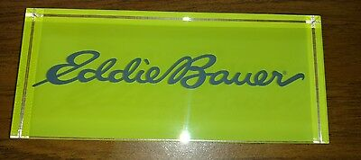 Eddie Bauer Advertisment Eye Sun-Glasses Clothing Store Display Sign