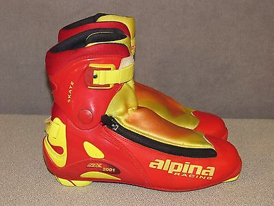 Alpina Racing Sk-2001 XC Cross Country Ski Boots NNN II Size Men's Size 44