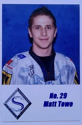 MATT TOWE 2006-07 Sheffield Scimitars - BELFAST GIANTS x Steelers, Flames, Clan