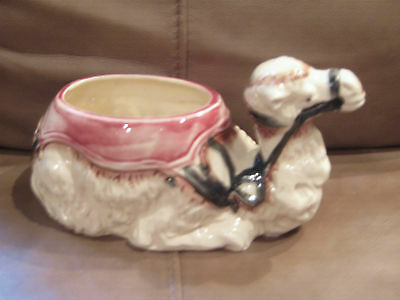 One Hump Camel Planter with Majolica like glaze
