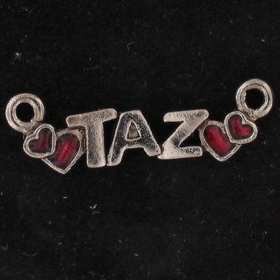 CHARM Taz Tazmanian Devil WARNER BROS LOONEY TUNES WB STORE Silver Red 5431
