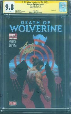 Death of Wolverine 1 CGC SS 9.8 Stan Lee Gold Signed Holofoil Cover X Men