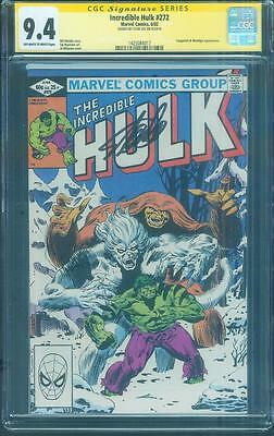 Incredible Hulk 272 CGC SS 9.4 Stan Lee Auto 2nd Rocket Raccoon 1982 Guardians