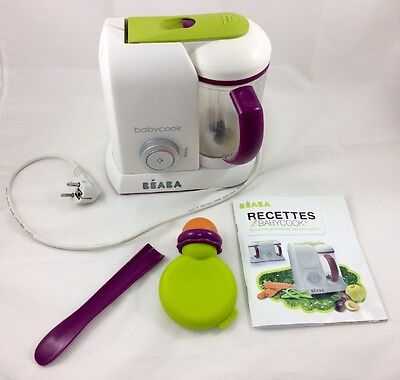 Babycook solo BEABA récent fonctionne + gourde BEABA silicone neuve + recettes